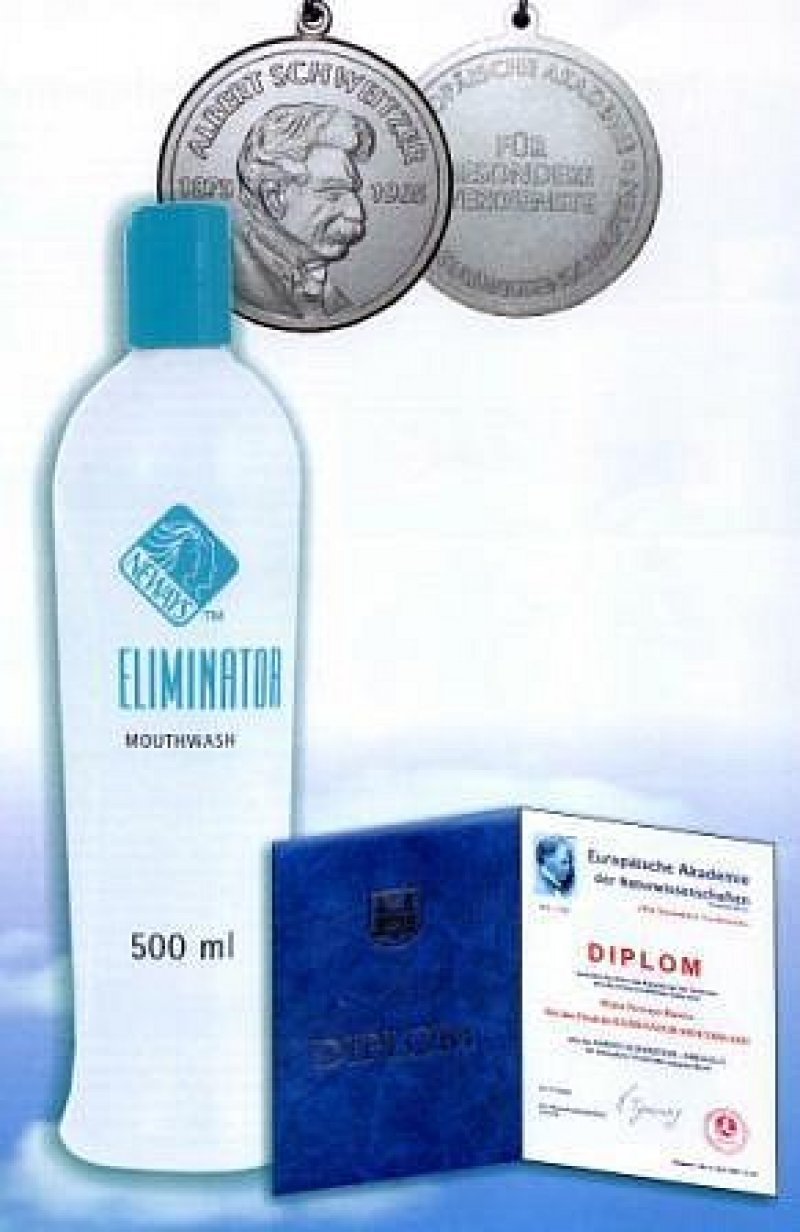 Eliminator® Mouthwash (Илиминатор Маусуош) 500ml - антисептический ополаскиватель для полости рта www.neway.com.ua