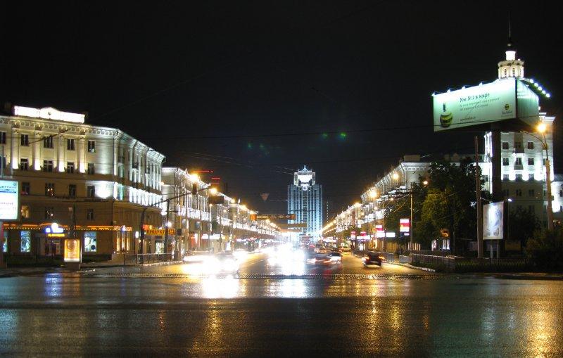 Ночной Екатеринбург улица Свердлова