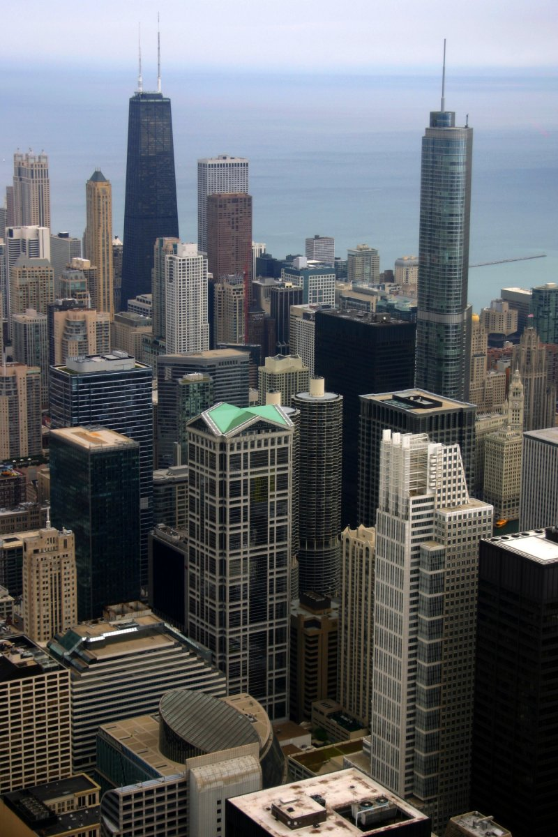 Downtown Chicago as seen from the Willis Tower Skydeck