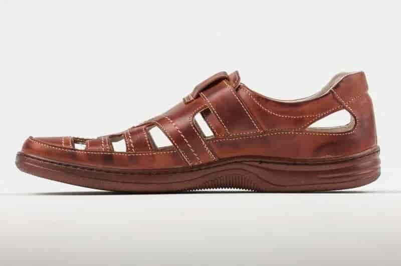 030 Мужские кожаные летние туфли Matador Brown